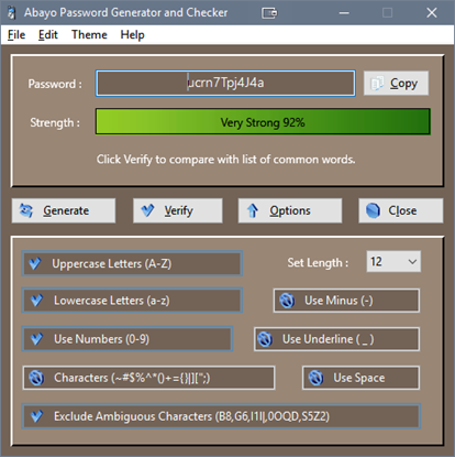 Picture of Abayo Password Generator for Windows ® PC